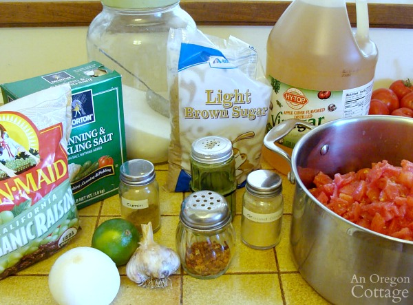 Addictive Tomato chutney ingredients