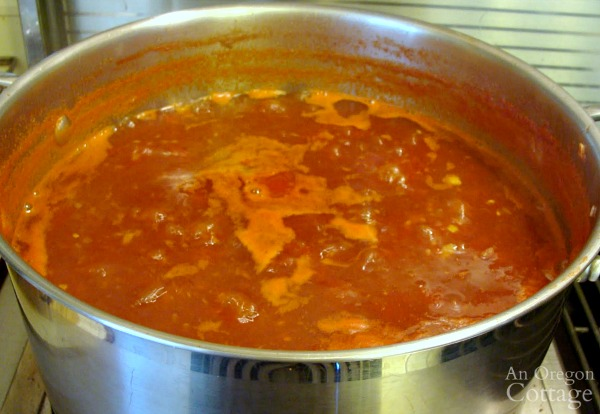 Addictive Tomato chutney_halfway through cooking