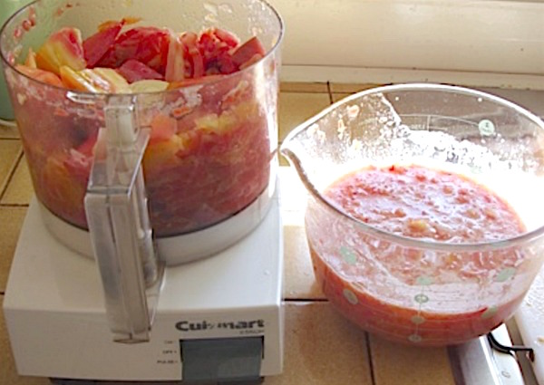 Favorite salsa for canning-measuring tomatoes