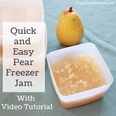 Pear Freezer Jam at Frugal Family Home