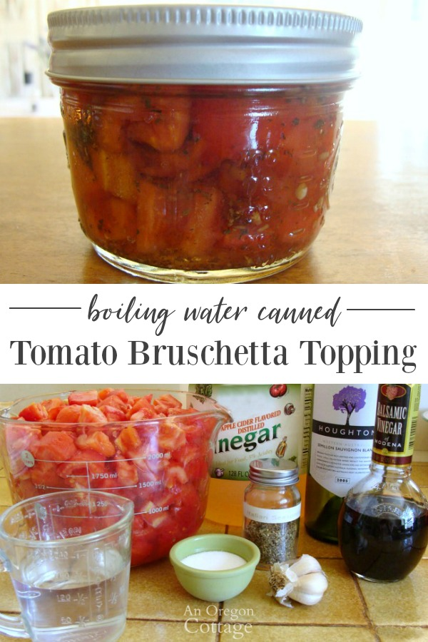 Water Bath Canned Tomato Bruschetta Topping