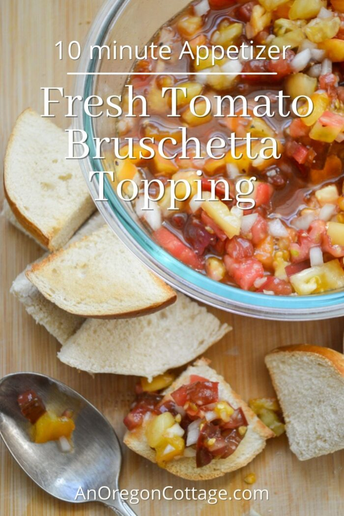 fresh tomato bruschetta topping