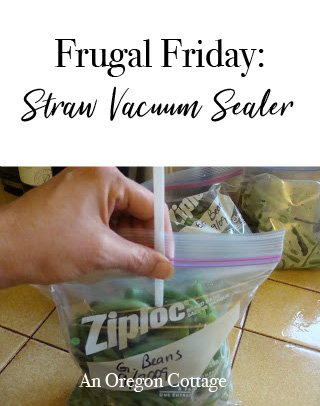 Frugal Friday: straw vacuum sealer