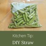kitchen tip straw sealer
