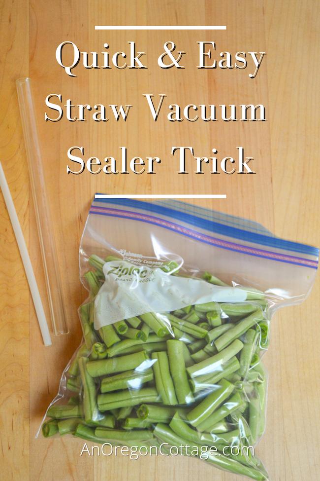 quick straw vacuum sealer