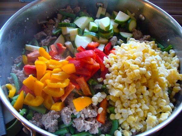 Cooking Primavera ingredients