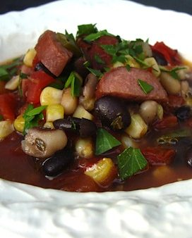 Black bean-sausage soup - An Oregon Cottage