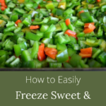 easily freeze sweet-hot peppers