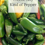 how to easily freeze any pepper