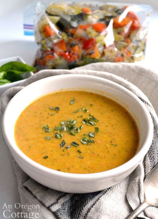 lemon garlic roasted vegetable soup