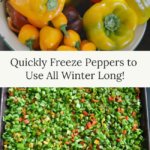 quickly freeze peppers