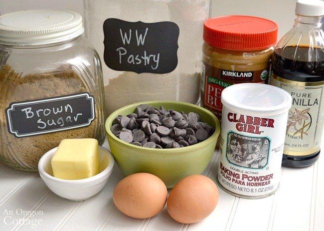 Peanut Butter Swirl Bars ingredients