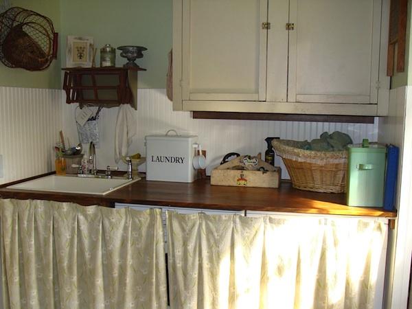 Remodeled Garage Laundry Room Washer-Dryer - An Oregon Cottage