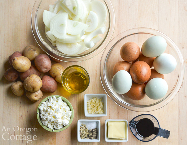 potato caramelized onion frittata ingredients