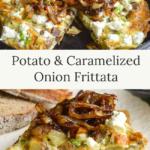 potato-caramelized onion frittata