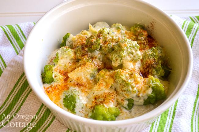 Broccoli Cauliflower Parmesan close