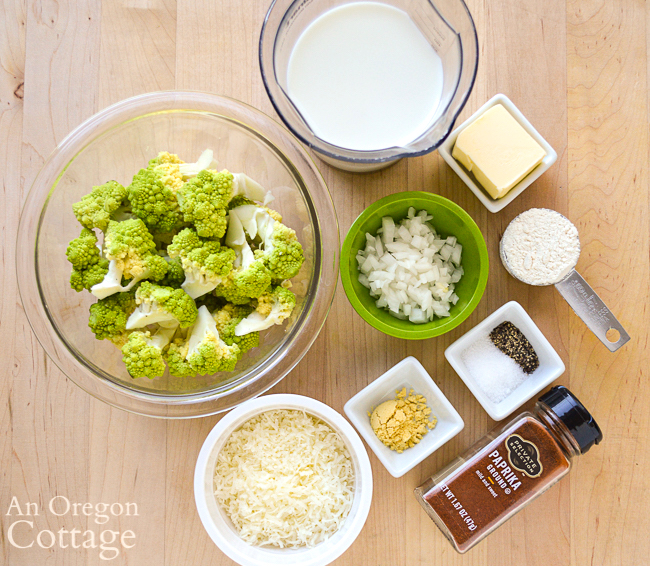 Broccoli Cauliflower Parmesan ingredients