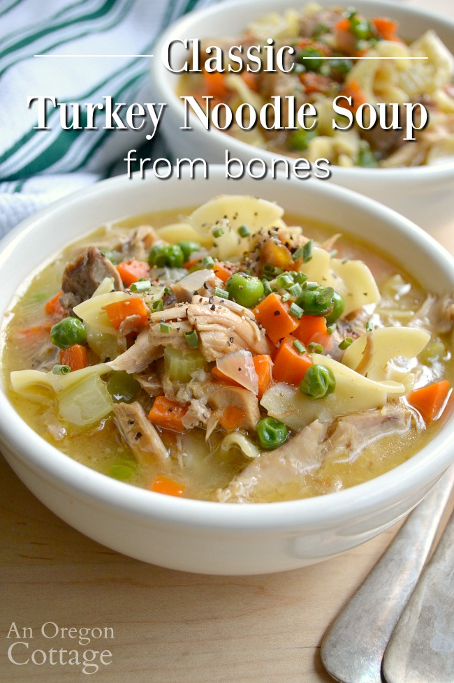 Classic Turkey Noodle Soup recipe from bones