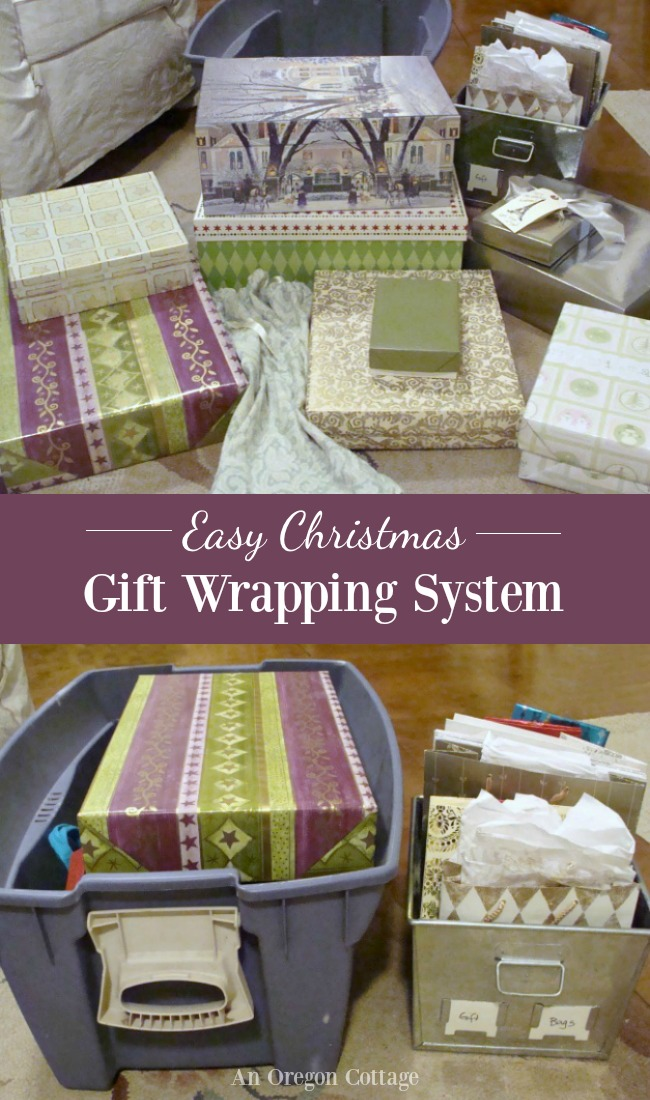 Christmas gift wrapping system.
