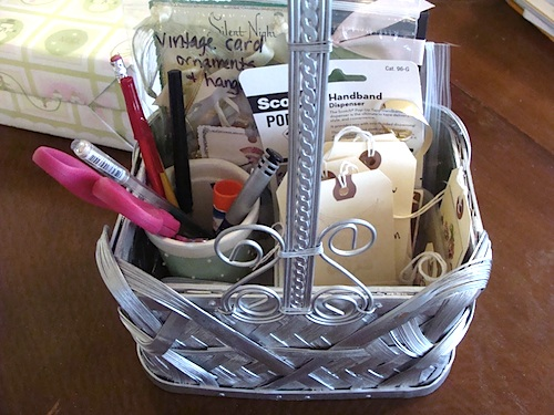 Gift Tag Basket