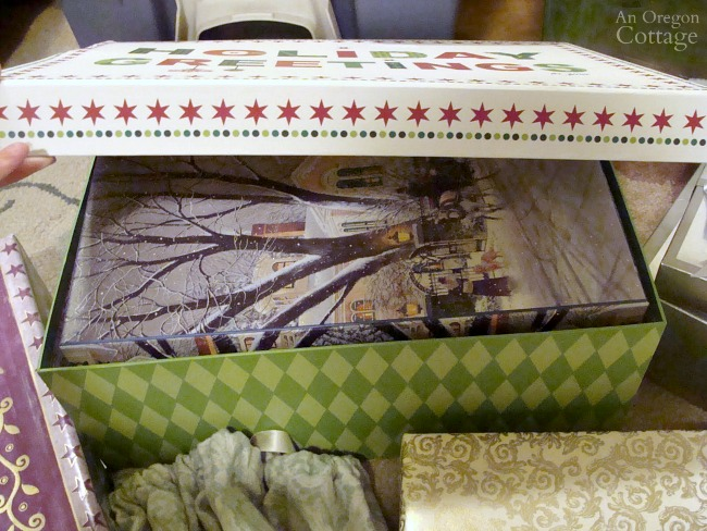 Gift Wrapping System-box stored in bigger box