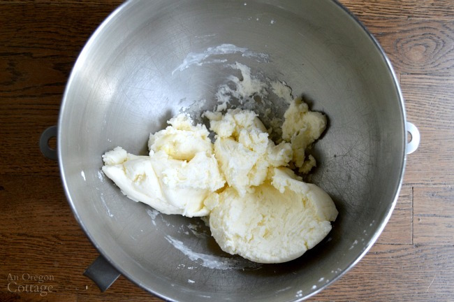 Homemade Butter Mints-mixing ingredients in bowl