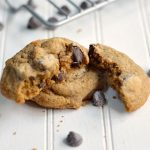 Moist and chewy mocha chip cookies