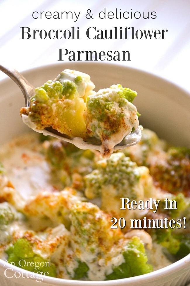 creamy-delicious broccoli cauliflower parmesan