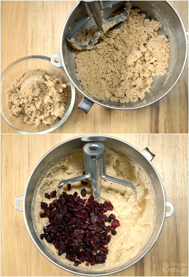 Making Cranberry Crumb Loaves and-or Muffins