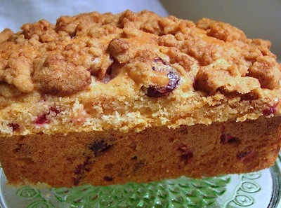 cranberry crumb loaves