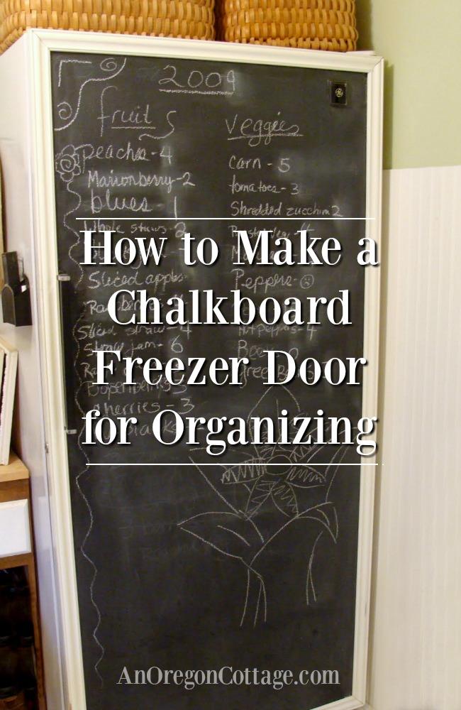Chalkboard freezer door for organizing