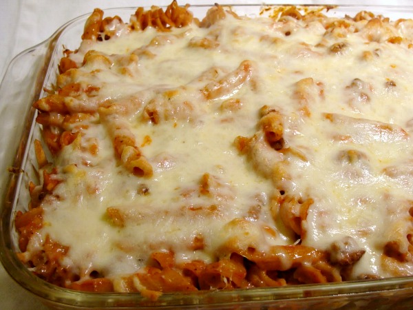 Creamy Cheesy Baked Pasta-a family favorite comfort food.