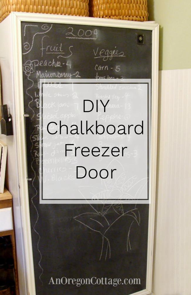 DIY Chalkboard freezer door