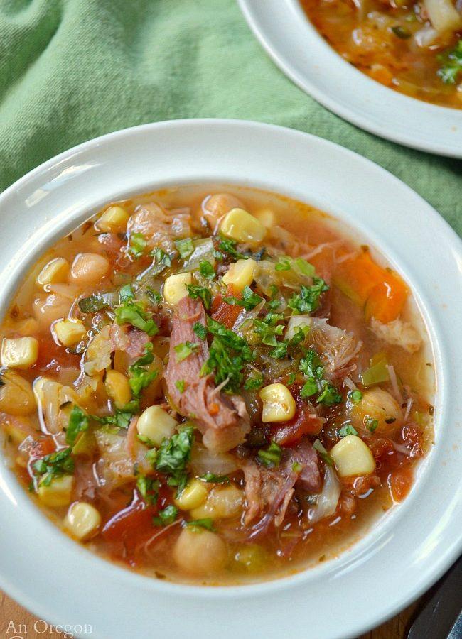 Easy Vegetable Ham Bone Soup
