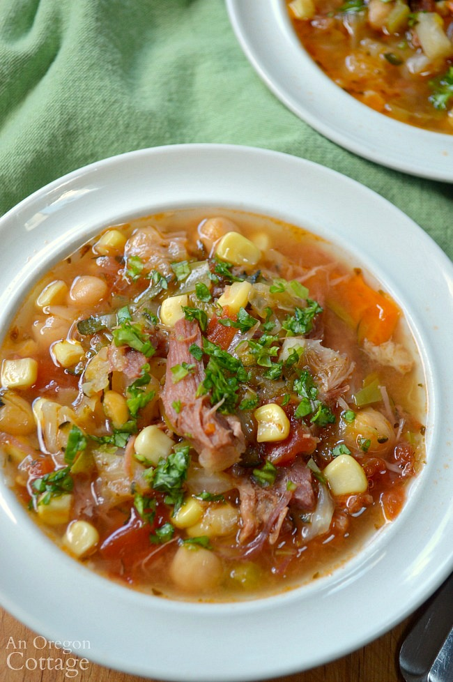 Easy Vegetable Ham Bone Soup