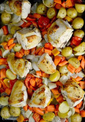 Lemon-Garlic Roasted Chicken Sheet Pan Dinner An Oregon Cottage