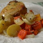 Lemon-Garlic Roasted Vegetables and Chicken - An Oregon Cottage