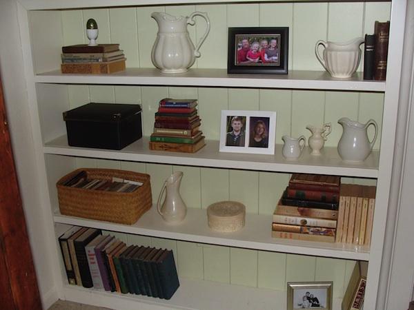 Living Room Shelf After