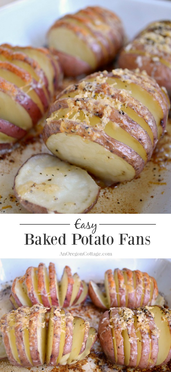 Replace plain old baked potatoes with easy baked potato fans for an extra 'wow' factor. Like potatoes? Click through to see this recipe AND 40+ other potato recipes participating in The Ultimate Recipe Challenge!
