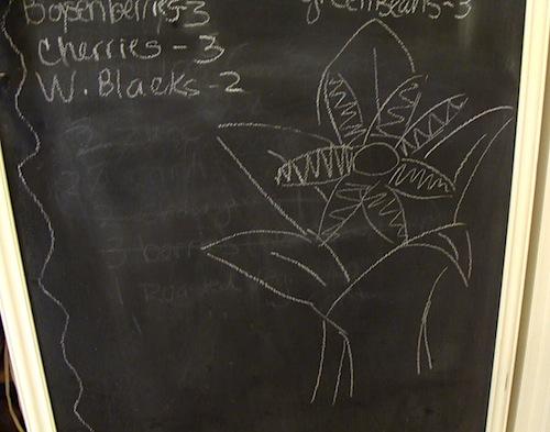 chalkboard freezer bottom