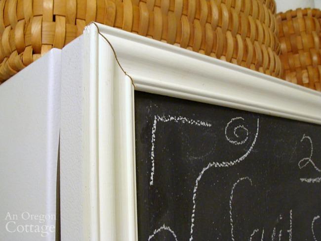chalkboard freezer door corner detail