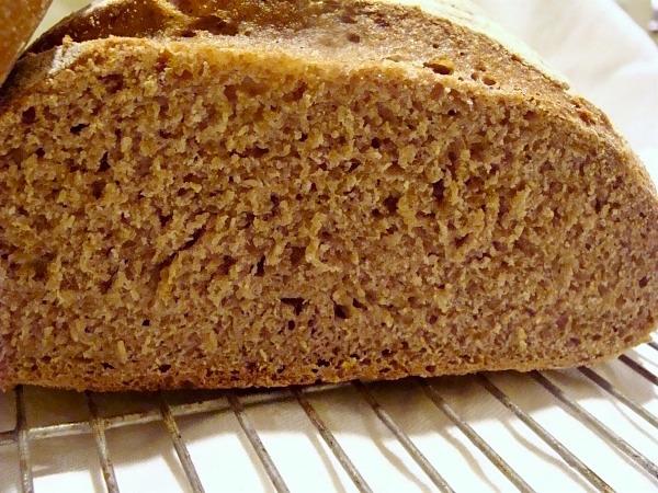 sourdough bread interior crumb