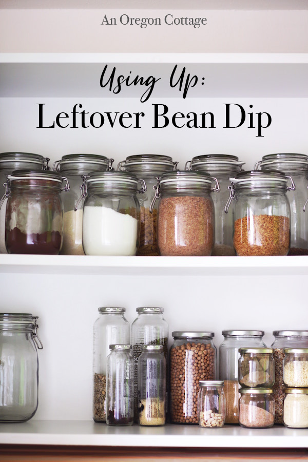 Using up: leftover bean dip