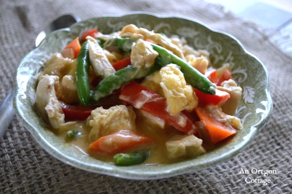 Rotisserie Chicken and Vegetable Curry - a Thai flavored one-dish meal that cooks up in just minutes
