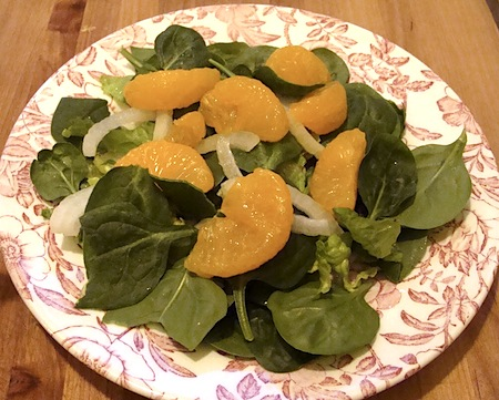 oranges on salad