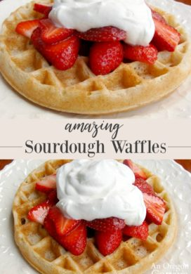 Amazing Whole Wheat Sourdough Waffles Recipe