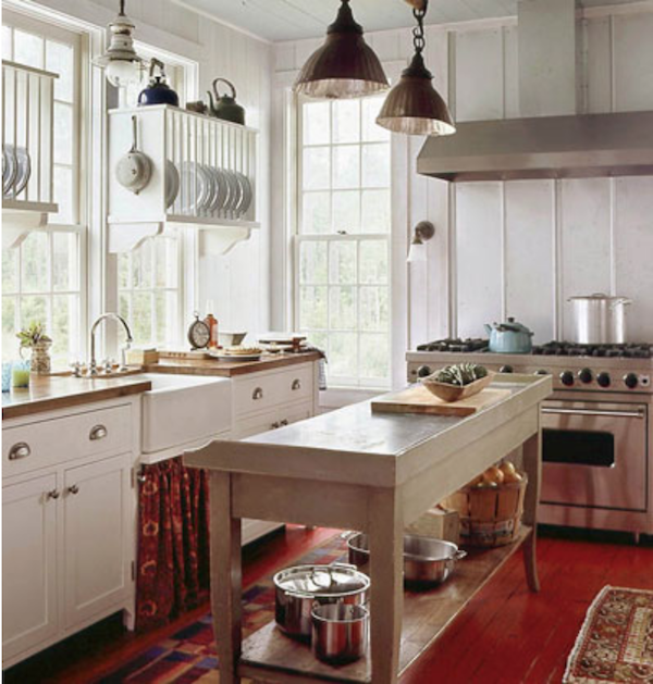 Cottage Living-kitchen from magazine