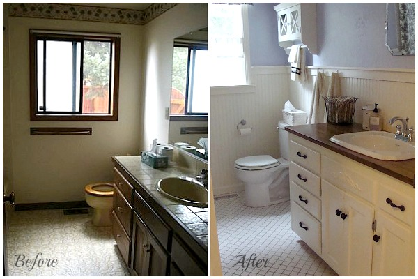 Diy remodeling at aoc the bathrooms - Before and after small bathroom remodels ...