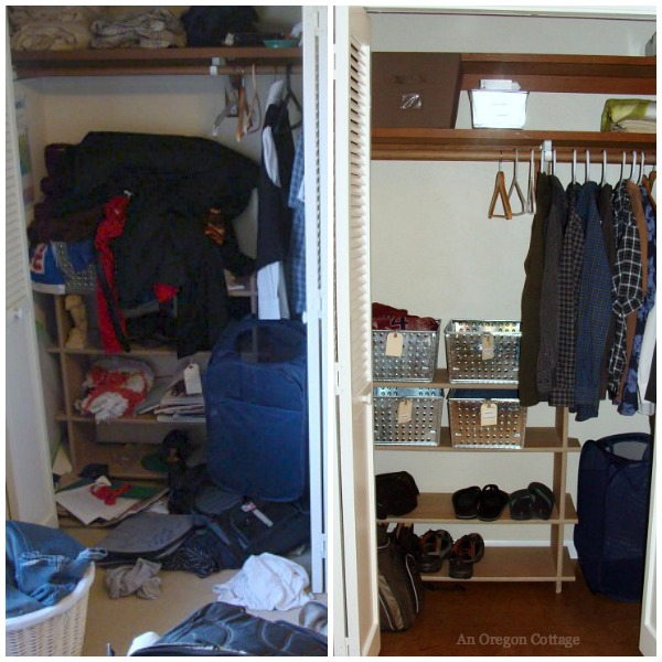 Teen Bedroom Makeover Before-After Closet - An Oregon Cottage