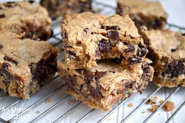 Whole Grain Chocolate Chip Peanut Butter Bars